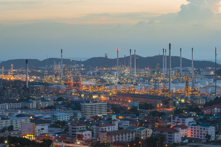 heavy industry: Refinery factory plant in heavy industry estate ,Chonburi ,Thailand Stock Photo