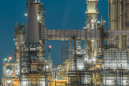 blue steel: Lighting from structure of oil and chemical factory