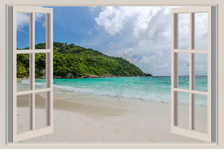 open windows: The open window, with sea views