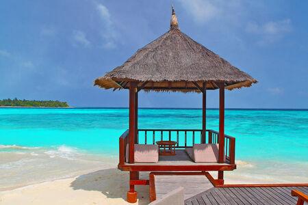 beach hut: A beach hut on the tropical beach