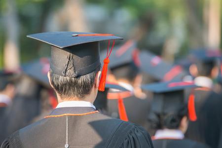 back of graduates during commencement. Standard-Bild
