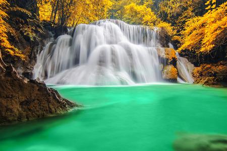 Deep forest Waterfall in Kanchanaburi photo