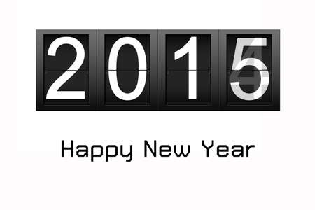 Happy New Year 2015, digital number countdown photo