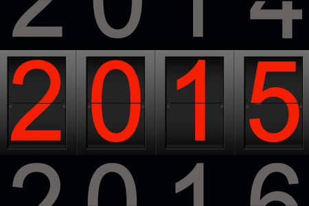 Happy New Year 2015, digital number photo