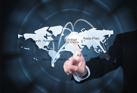 Global Partners Graphic use for importexport background