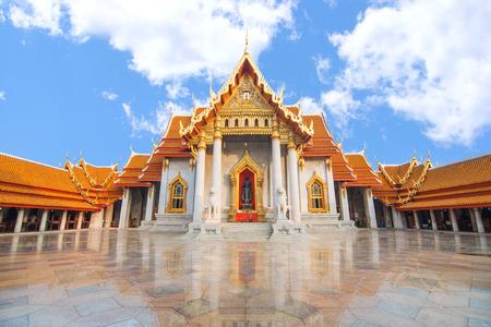 The Marble Temple, Wat Benchamabopit Dusitvanaram Bangkok THAILAND Stock Photo