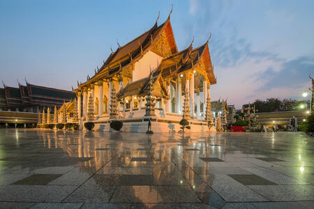 ayutthaya: Temple at twilight, Suthat Temple, Bangkok, Thailand
