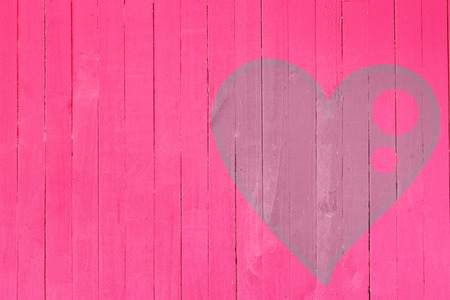 painted wood: Wood wall graffiti heart, valentines day background