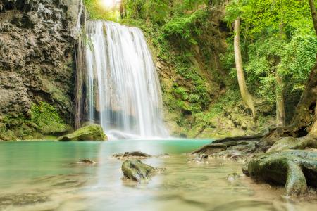 wonderful thailand: Erawan Waterfall in Kanchanaburi, Thailand