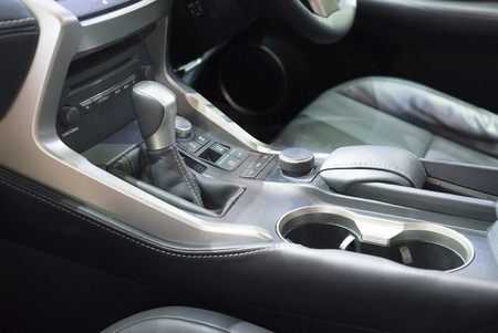 Automatic transmission gear shift in car