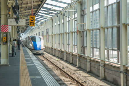 bullet train: High-speed train in Tokyo station, Japan