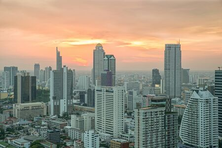 lighten: Cityscape in middle of BangkokThailand