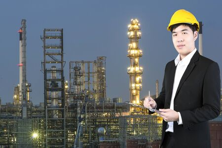 safety check: Chemical Engineer check safety in oil refinery