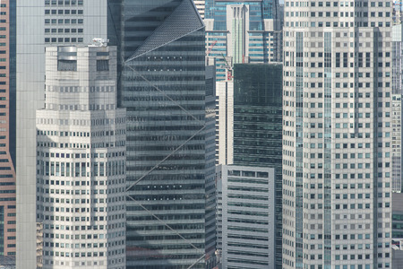 a close up: Close up structure of office building in Singapore