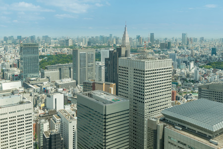 office buildings: Cityscape of Tokyo skyscrapers in shinjuku financial district, Japan