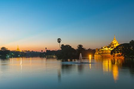 buddha image: Shwedagon pagoda in Yagon, Myanmar