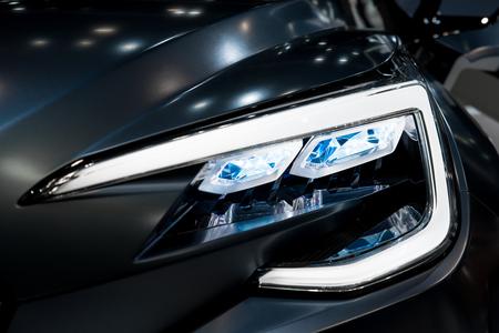 headlights: Closeup headlights of modern car
