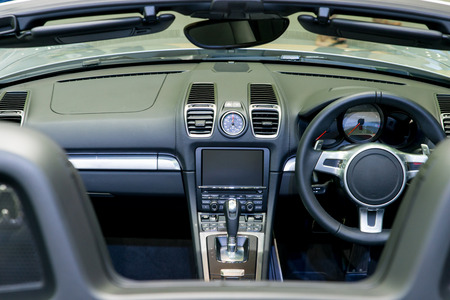 compartments: Interior of a modern automobile showing the dashboard