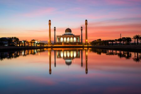 province: The Central Mosque of Songkhla in Thailand Stock Photo