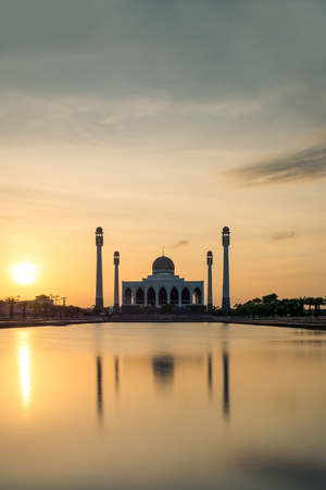 southern thailand: The Central Mosque of Songkhla in Thailand Stock Photo