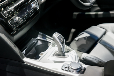 shift: Automatic transmission gear shift in car