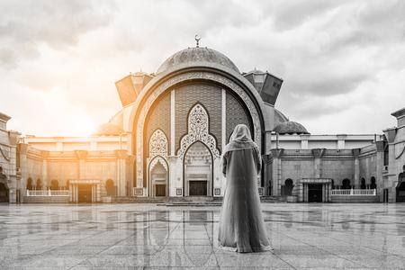 islamic wonderful: Malaysia Mosque with Muslim pray in Malaysia, Asian