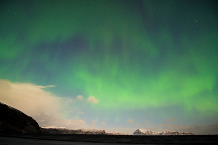 magnetic north: Aurora Borealis (Northern Lights) over southern Iceland