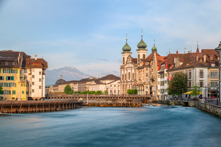 lucerne: Beautiful view of the the historic city center of Lucerne, Switzerland
