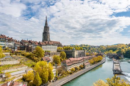 Berne, Suisse - Image de Berne, Belle vieille ville dans la saison d'automne à Berne, Suisse. Berne est la capitale de la Suisse.