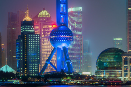 oriental pearl tower: Shanghai oriental pearl tower in night at Shanghai, China.