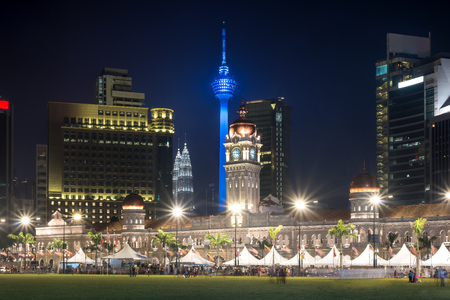 merdeka: Merdeka Square in downtown Kuala Lumpur at twilight, Malaysia