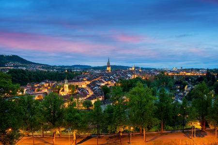 Ville de Berne horizon avec un ciel dramatique à Berne, Suisse