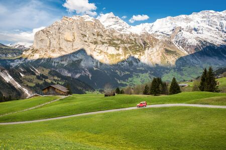 bernese oberland: Landscape scene from First to Grindelwald, Bernese Oberland, Switzerland