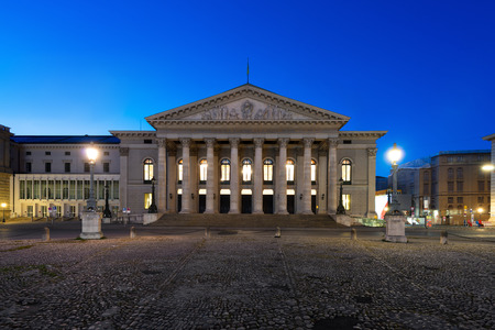 The National Theater of Munich, Located at Max-Joseph-Platz Square in Munich, Bavaria, Germany.