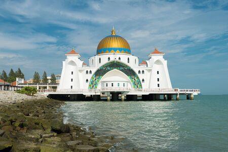 destination scenics: Malacca islam mosque is beutiful islam mosque in Malacca, Malaysia. Editorial