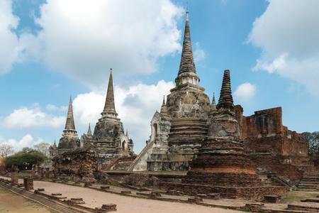 phra nakhon si ayutthaya: Ayutthaya Historical Park, Phra Nakhon Si Ayutthaya. Temple Pagoda in Ayutthaya of Thailand. Stock Photo