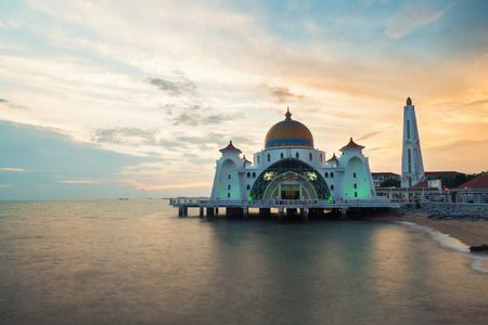 Malacca straits mosque (Selat Melaka Mosque) is a Mosque located on Malacca Island near in Malacca state, Malaysia.