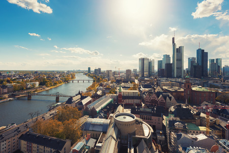Frankfurt am Main. Image of Frankfurt am Main skyline in Germany.