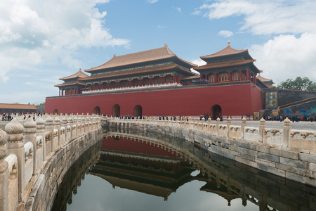 Beijing ancient royal palaces of the Forbidden City in Beijing ,China.