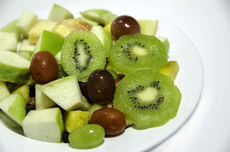 fruits on white dish Stock Photo