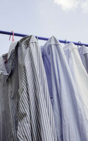 drying shirted in blue sky