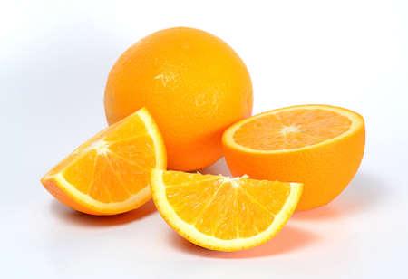many orange on white background