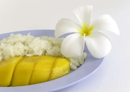 thai Dessert Sweet Sticky Rice With mango  Stock Photo