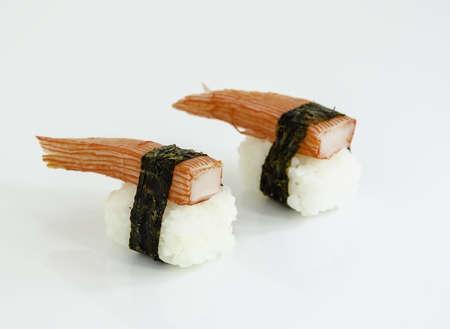 sushi rice on white Stock Photo