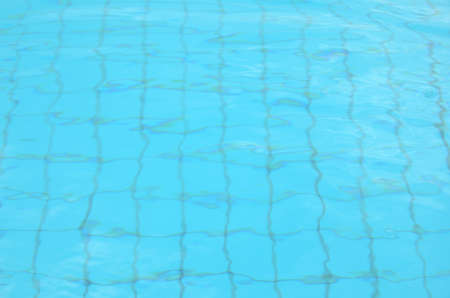 transparent water in swimming pool for background Stock Photo