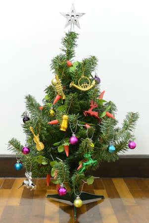 Christmas tree and Christmas decoration Stock Photo