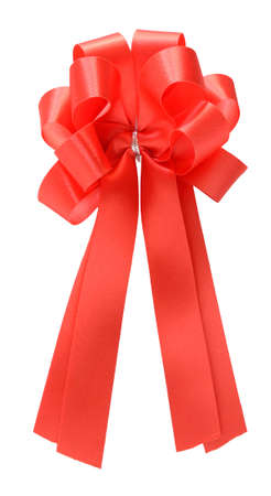red bow on white Stock Photo