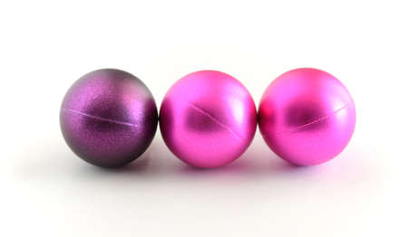 tree violet ball on white background Stock Photo