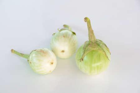 thai eggplant on white