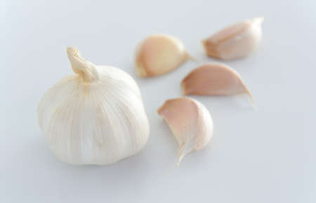 garlic can reduces blood pressure down. Stock Photo